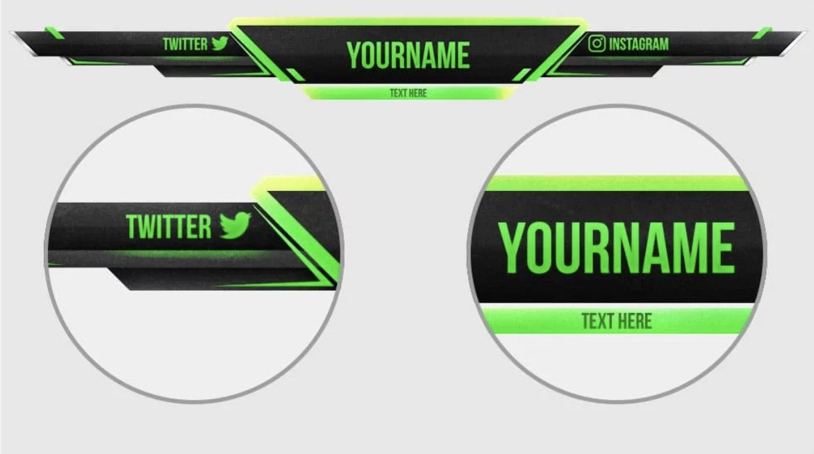 overlay gaming nombre redes sociales